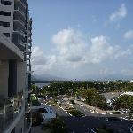  The view from the 6th floor apartment down towards the water and the loading wharfs