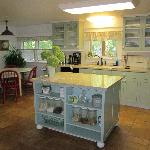  The bright, open kitchen