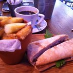  steak ciabatta and chunky chips