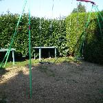 Swings for children.