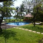 Villa Hanani main grounds, landscaped with an uninterrupted view of Jimbaran