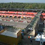 View from window: auto speed track Circuit Zolder