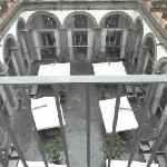 View from the room and the courtyard.