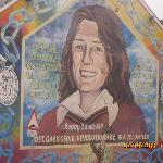 Mural showing hunger striker Bobby Sands