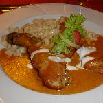 Wonderful chicken paprikash. This dish could easily have been the best of the trip.