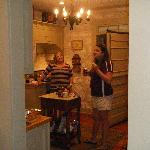Main house kitchen was the hub of activity. LOVED the stove and didn't find any kitchen item mis