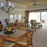 Our suite's dining and living areas