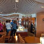 One of several cafes on board