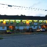 Bristol Motel in the evening