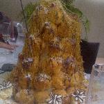 A close up of the cake ... awesome ..tasted as good as it looks