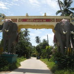  The front of the Elephant Gate marking the turn off from the main 4170 road