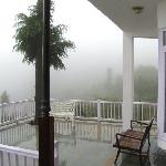 View from the front Deck in rains