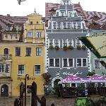 Meissen markt in the rain
