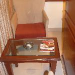 Arm chairs with table