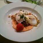 Poached Eggs with Lobster Hash