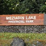 Entrance to Mezidian Lake Provincial Park