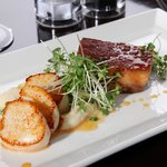 Scallops and Roast Pork Belly