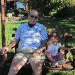  Relaxing with grandpa