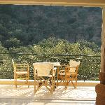 View from our suite (we chose a view of the hill of olive trees rather than sea view!