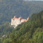 on the way to Karlovy Vary. It can be seen from almost every place.