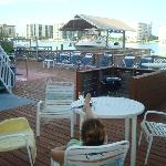 View from sun deck and lower rooms