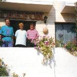 Myself and Parents Outside Trefon Apartments