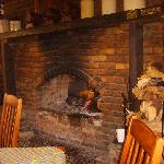 fireplace at Dullstroom Inn