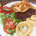 the steak and chips