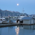 Moon rise over Seward Harbor