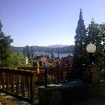View of Lake Arrowhead from the breakfast patio
