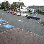 View of parking lot from room