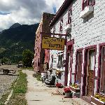 Streetside of the SIlverton Hostel