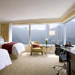 "Premier Mountain View room features Marriott Revive bedding, 42"" LCD TV and DVD player"