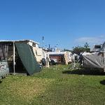 Caravan area beside the beach