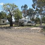 Caravan site with slab