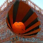  &#39;Le Cube Orange&#39; at the redeveloped Lyon Docks