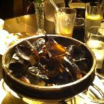 Appetizer portion of the restaurant's excellent mussels (after I've eaten them all)