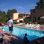 Poolside at the agriturismo.