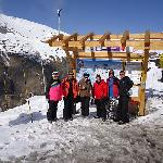 The beginners ski group