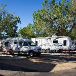 Typical sites at Highlands RV Park