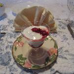 Yogurt and berries, before the main breakfast course, the first day