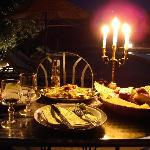  The candle light dinner