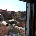 View of Vernazza from the window