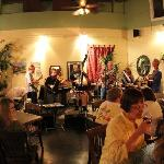 The blue grass band on the Friday