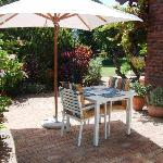 Apple Tree - Patio and BBQ area