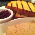 Chicken liver pate with flamegrilled bread