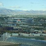 View of the Broncos Stadium from our room.