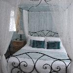 Our lovely four poster bedroom