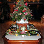 middle buffet table