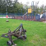 Fun for all the family - Swings, shuts, football pitch, sand pit, swing ball